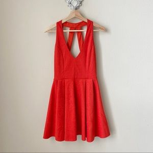ASOS red-orange mini dress